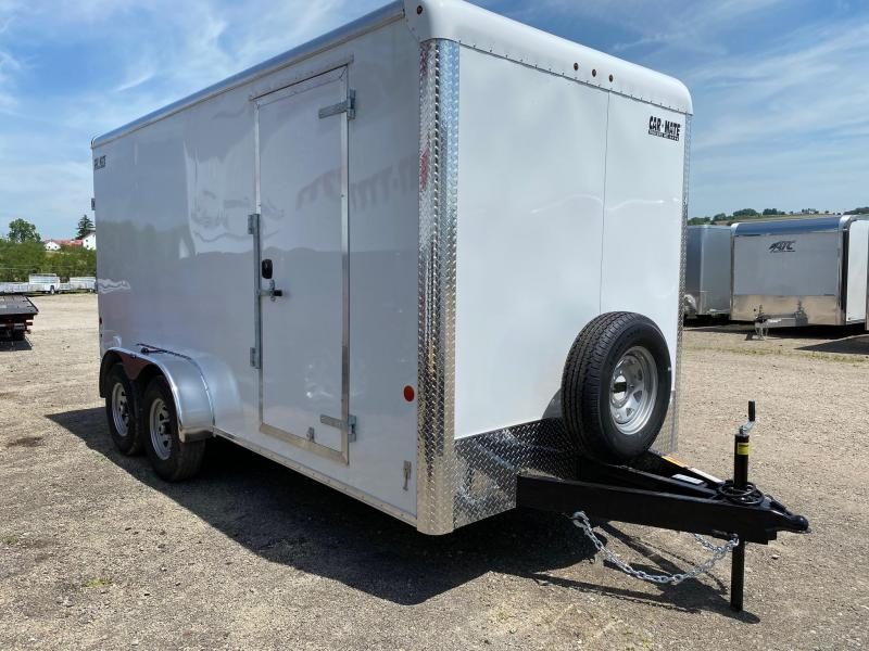 """NEW 2020 Car Mate 7x16 Heavy Duty Custom Cargo Trailer w/ Rear Ramp Door and 12"""" Add'l Height and 6K Axles"""