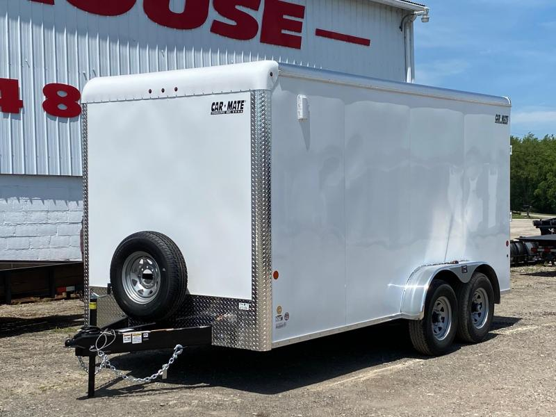 "NEW 2020 Car Mate 7x16 Heavy Duty Custom Cargo Trailer w/ Rear Ramp Door and 12"" Add'l Height and 6K Axles"
