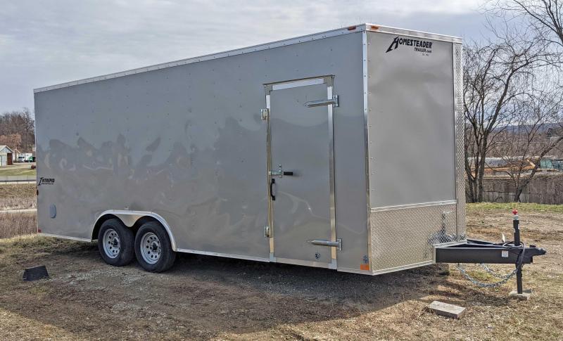 COMING SOON!!!! NEW 2021 Homesteader 8.5 x 18 Intrepid V-Nose Cargo Trailer w/Ramp Door