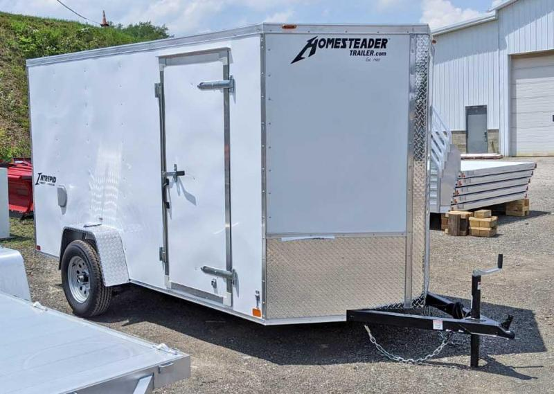 NEW 2021 Homesteader 6x12 Intrepid V-Nose Cargo Trailer w/ Barn Doors