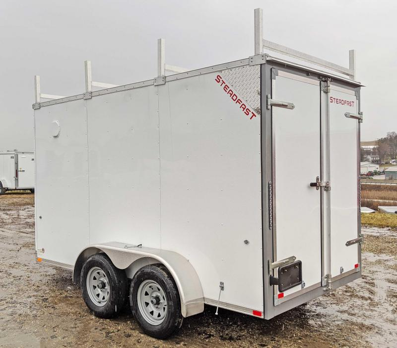 NEW 2020 Steadfast 6x12 Tandem JST Sloped V-Nose Cargo Trailer w/ Rear Barn Doors