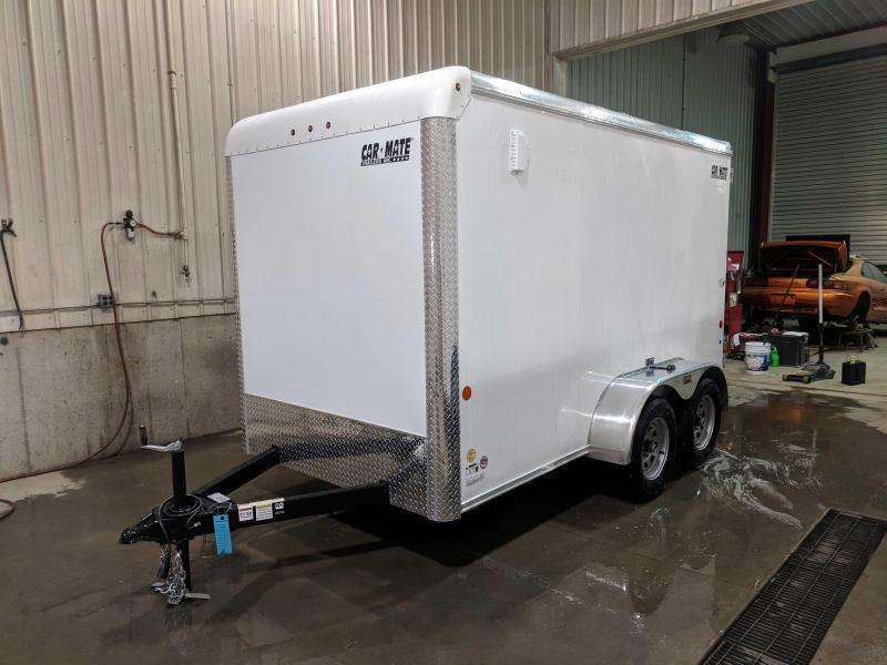 "NEW 2020 Car Mate 6x12 HD Tandem Custom Cargo Trailer w/ Ramp Door (6"" Add'l Hgt)"