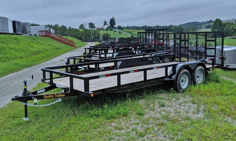 NEW 2020 Quality 7x18 HD General Duty Utility Trailer w/ Spring Assist Gate - No Dove
