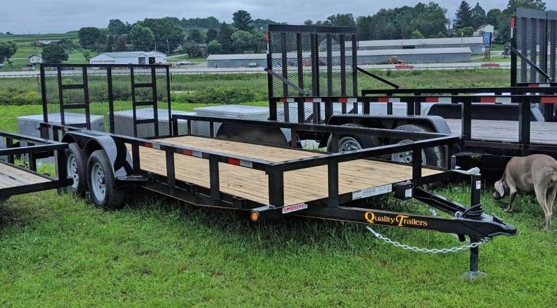 NEW 2021 Quality 7x18 HD General Duty Utility Trailer w/ Spring Assist Gate