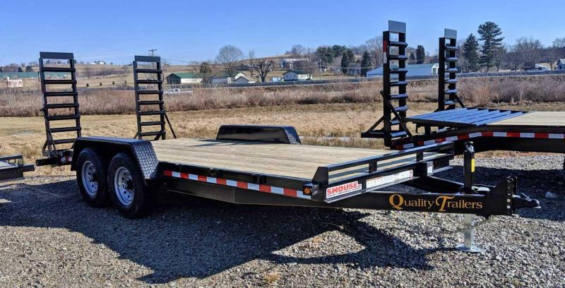 NEW 2021 Quality 18' HD General Duty Equipment Hauler w/ 2' Dove