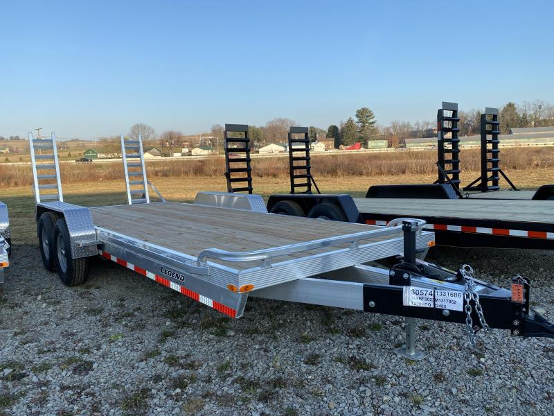 .NEW 2021 Legend 20' HD Lo Pro Aluminum Equipment Hauler w/ Wood Deck