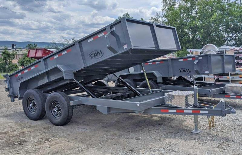 "NEW 2020 CAM ""Advantage"" 6'8"" x 14 HD Lo Pro Equipment Dump Trailer (7K Axles)"