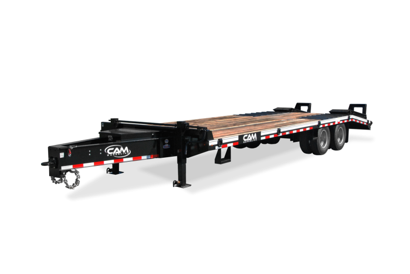 NEW 2019 CAM SUPERLINE 20+5 HD (15 TON) Deckover Tagalong w/ Electric Brakes and Stand Up Ramps