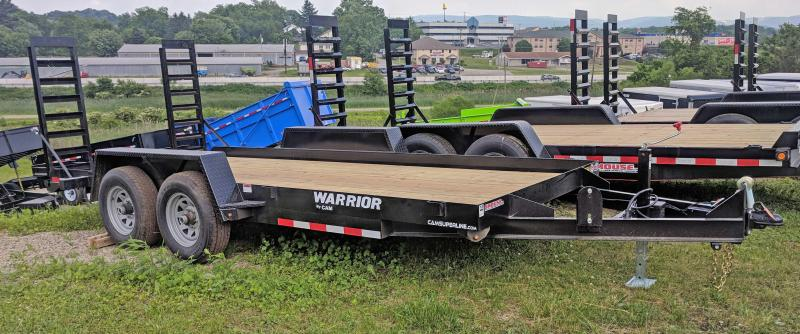 NEW 2021 CAM 18' Warrior Equipment Hauler w/ Aluminum Toolbox & 5' Angle Stand Up Ramps