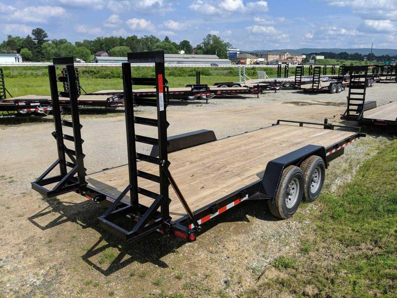 NEW 2021 Quality 18' HD General Duty Lo Pro Equipment Hauler w/ No Dove (7K Axles)