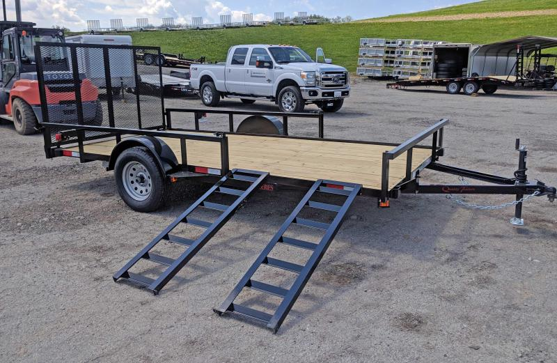 NEW 2021 Quality 7x14 PRO Utility Trailer w/ Spring Assist Gate, Tubular Top Rail & ATV Side Ramps