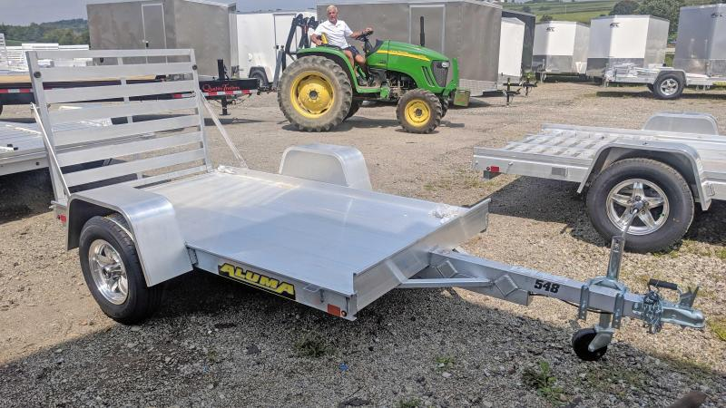 "NEW 2021 Aluma 4'6"" x 8 LW Utility Trailer"
