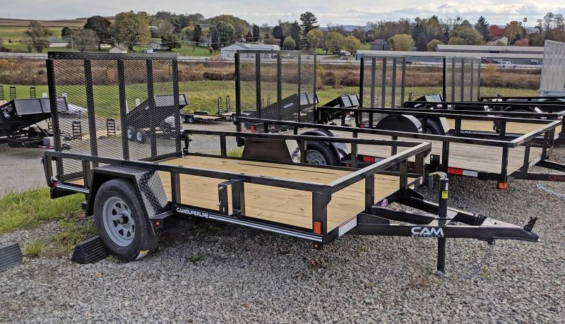 NEW 2021 CAM SUPERLINE 6x10 Tubular Top Rail Powdercoated Utility Trailer