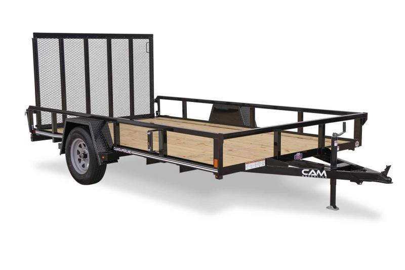 NEW 2020 CAM Superline 5x10 Utility Trailer w/ Tube Top & Spring Assist Gate