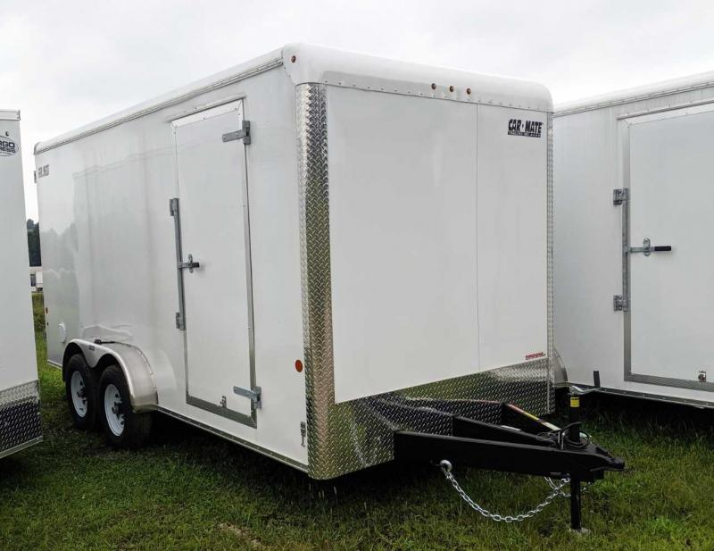 "NEW 2020 Car Mate 7x16 HD Custom Cargo Trailer w/ barn Door (12"" Add'l Hgt - 10K)"