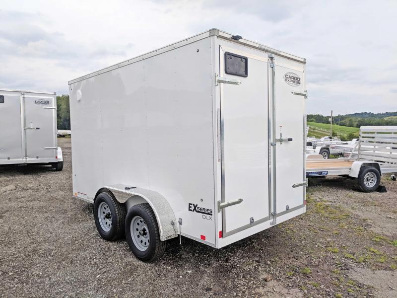 NEW 2021 Cargo Express 6x12 EX DLX Tandem Sloped V-Nose Cargo Trailer w Barn Doors