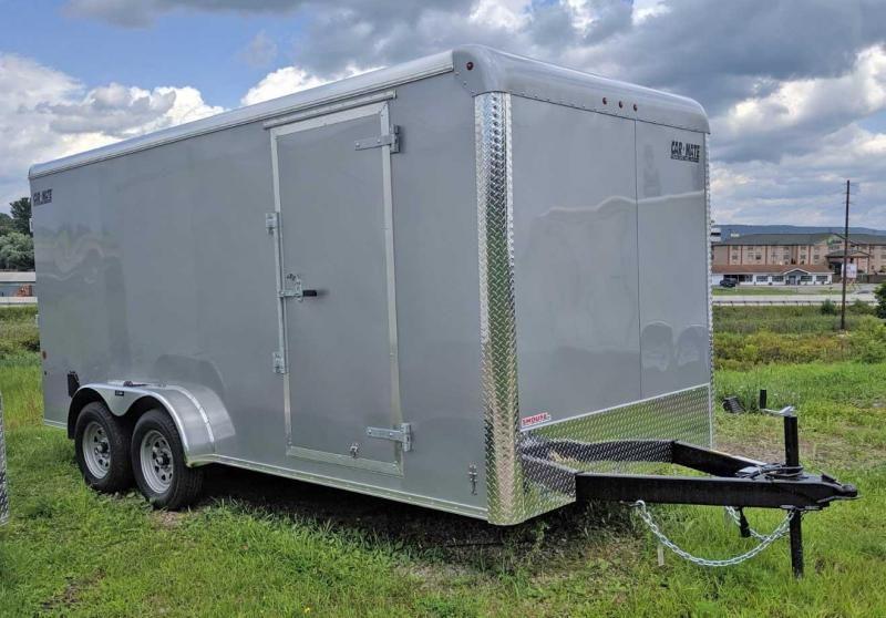 "NEW 2021 Car Mate 7x16 HD Custom Cargo Trailer w/ Ramp Door (6"" Add'l Height)"