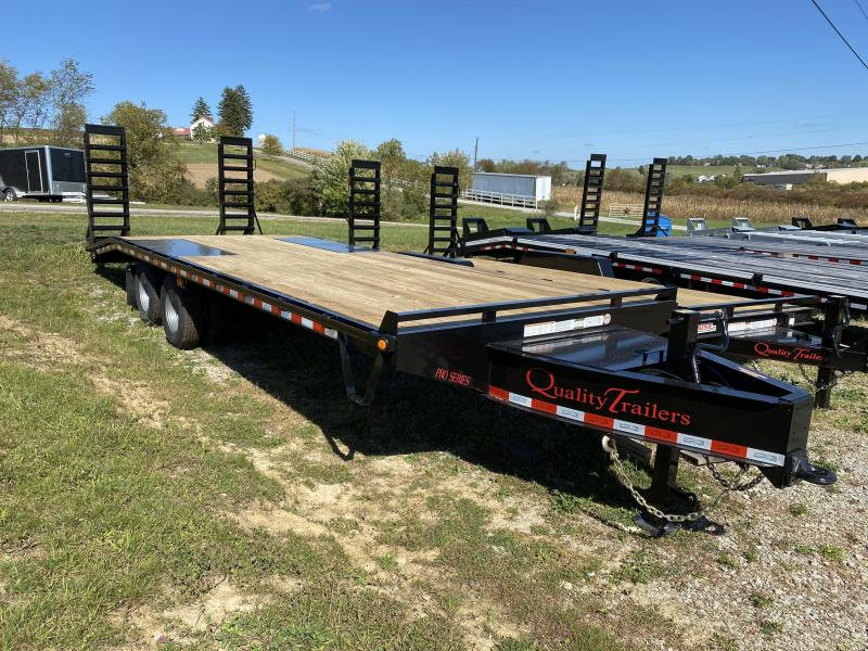NEW 2021 Quality 20+5 HD Gooseneck Deckover w/ Spring Assist Ramps