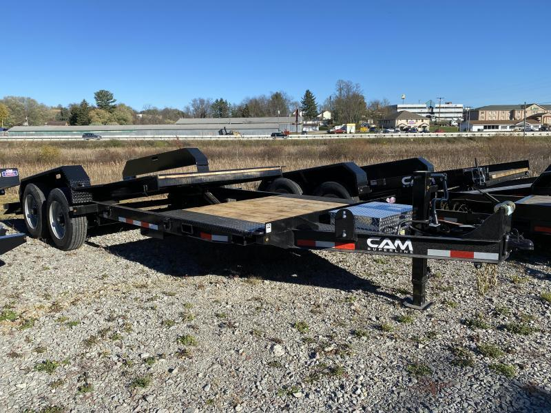 NEW 2021 CAM 21' (4 + 17) Lo Pro Extra Wide Split Tilt Trailer