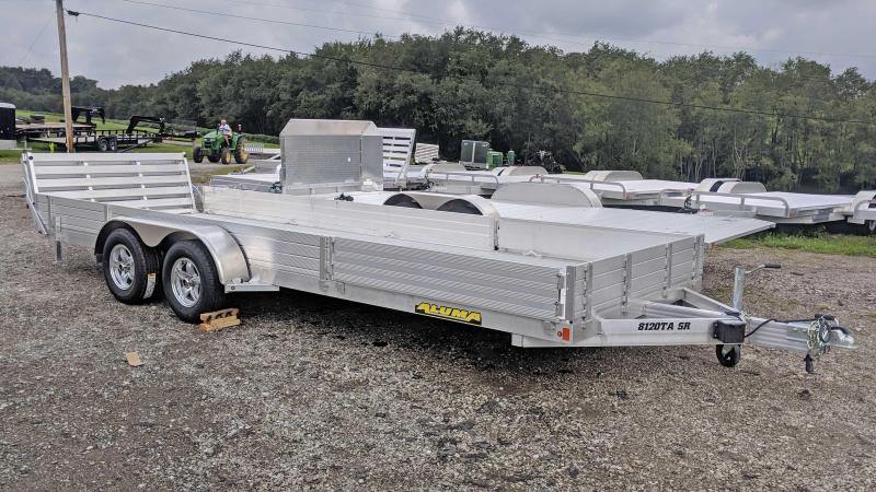"NEW 2022 Aluma 6'9"" x 20 SR Utility Trailer w/ Side Ramps & Bi-Fold Gate"