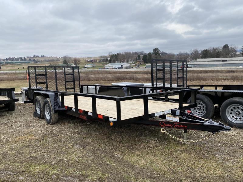 NEW 2021 Quality 7x18 PRO Utility Trailer w/2' Dove