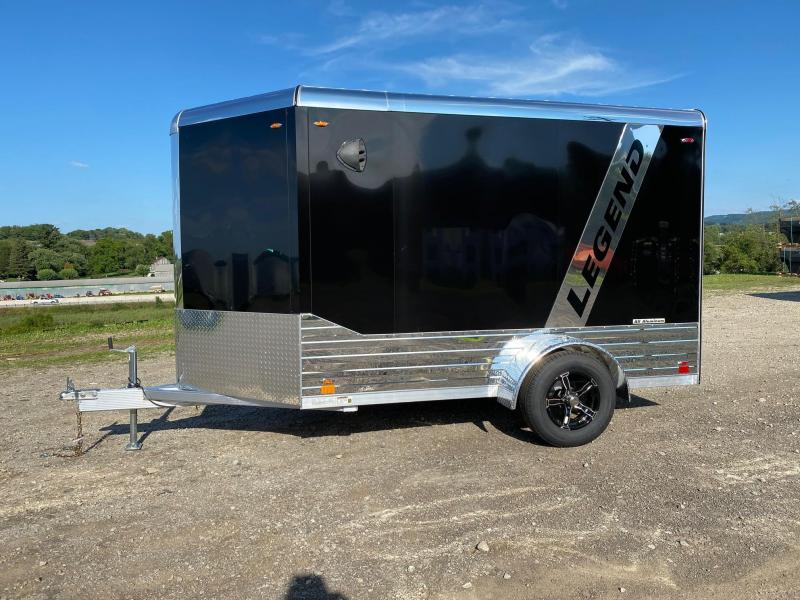 NEW 2021 Legend 6x10 +3' DELUXE V-NOSE Enclosed Aluminum Trailer w/ Rear Ramp Door
