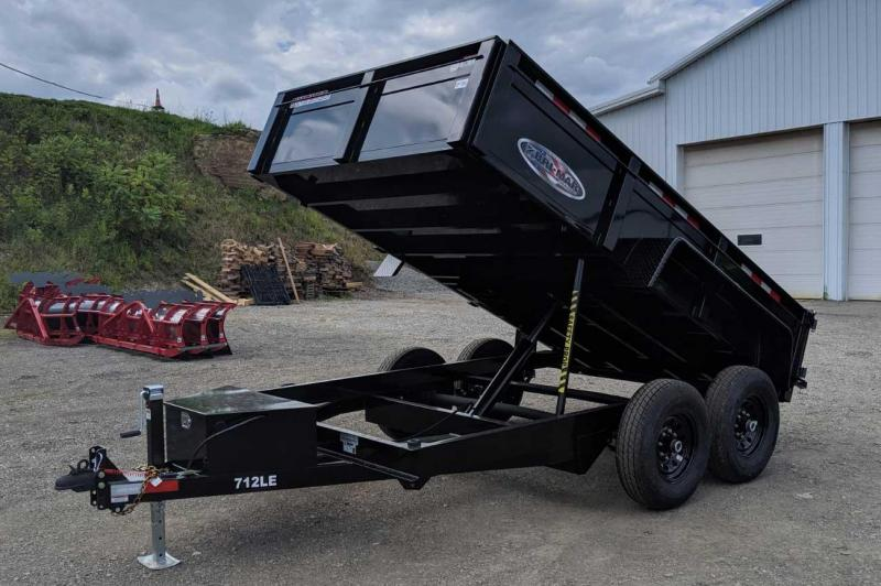 "NEW 2021 Bri-Mar 6'9"" x 12 Lo Pro Equipment Dump w/ Underbody Ramps"