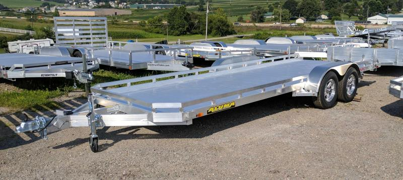 """NEW 2021 Aluma 6'6"""" x 18' Tandem Utility Trailer w/ Dove Tail & Pull Out Ramps"""