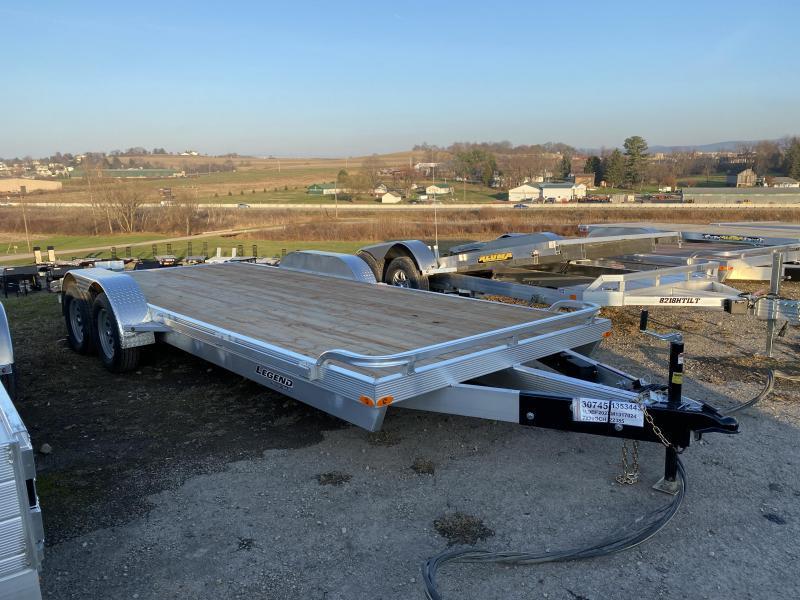 NEW 2022 Legend 20' HD Aluminum Open Car Hauler w/ Underbody Ramps
