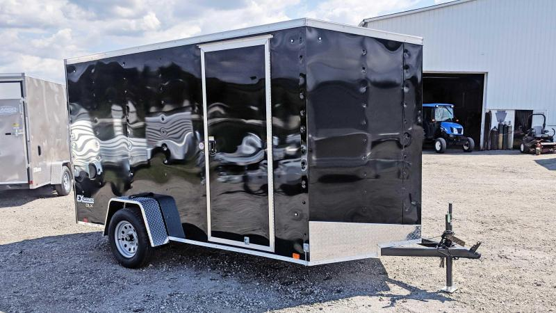 NEW 2021 Cargo Express 6x12 EX DLX Sloped V-Nose Cargo Trailer w Ramp Door