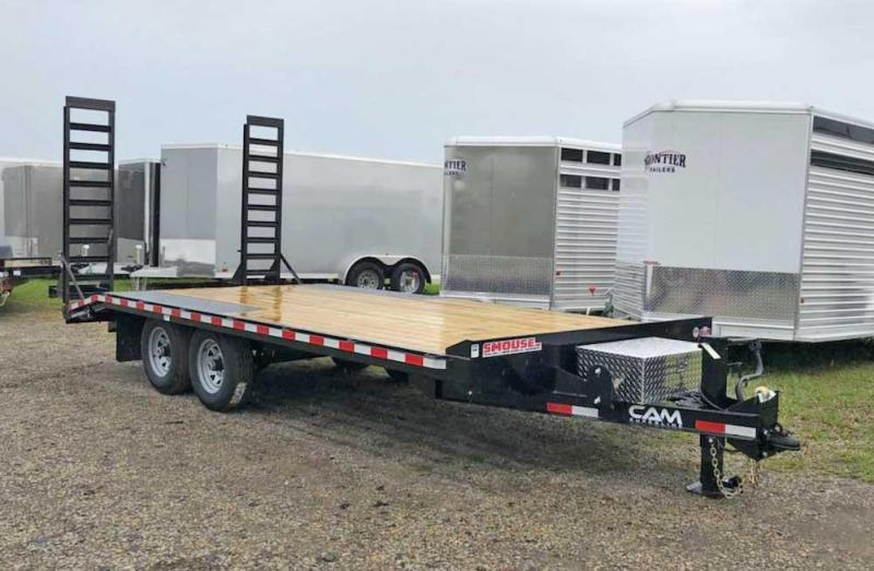 NEW 2021 CAM 15+3 LD Deckover Tagalong Trailer w/ 6' Angle Ramps