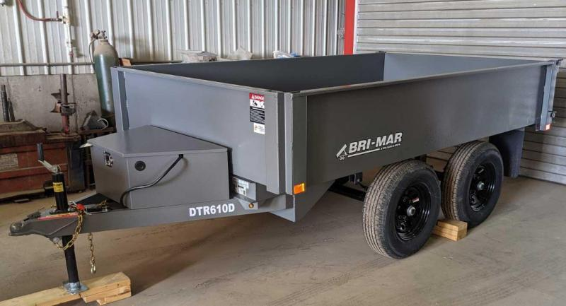 NEW 2021 Bri-Mar 6x10 Deckover Dump Trailer