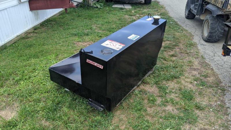 NEW Weather Guard Black L-Shape Liquid Transfer Tank 110 gal. Capacity 14 Gauge Steel