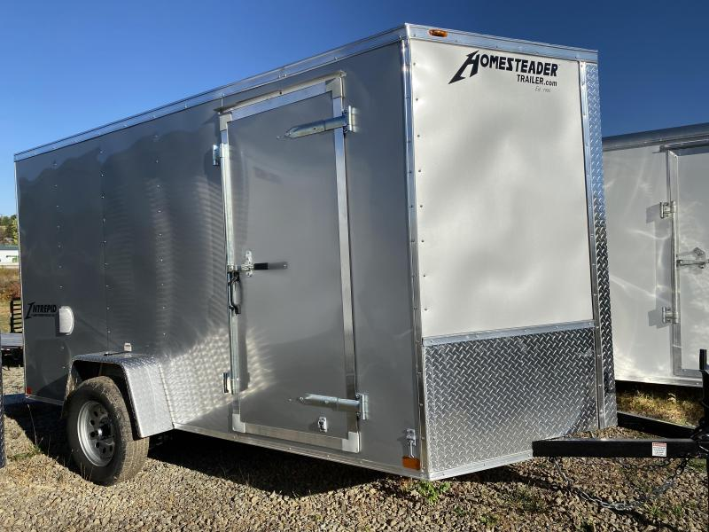 NEW 2021 Homesteader 6x12 Intrepid V-Nose Cargo Trailer w/ Ramp Door (Ramp Flip Out)
