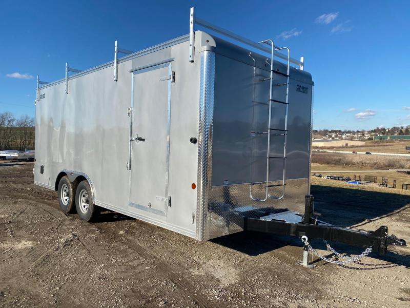 NEW 2021 Car Mate 8.5 x 20 HD Contractor Cargo Trailer w/ Rear Barn Doors