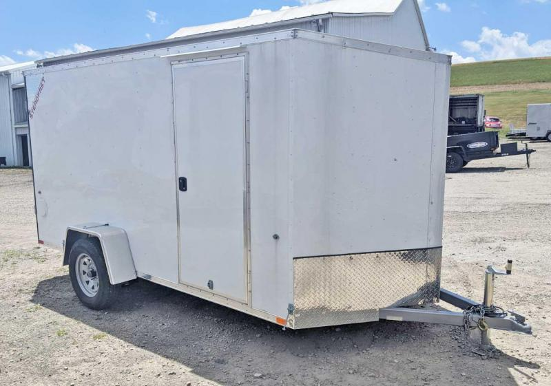 NEW 2020 ITI 6x12 JST Sloped V-Nose Cargo Trailer w/ Barn Doors