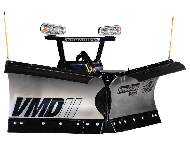 NEW 2020 SNOWDOGG 7.5' Gen 2 Stainless Steel V-Plow w/ LED Headlights