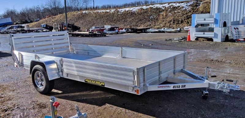 "NEW 2022 Aluma 6'9"" x 12 SR Utility Trailer w/ Side Ramps/Solid Rear Sides & Bi-Fold Gate (Early May Arrival)"