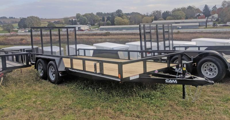NEW 2020 CAM Superline 7x18 Utility Trailer w/ Tube Top & Spring Assist Gate