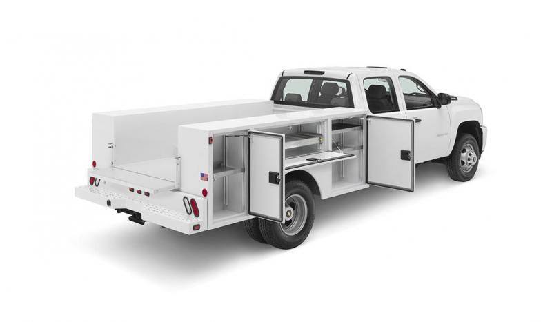 2019 Warner Select 8' POWDERCOATED Single Axle Utility Body