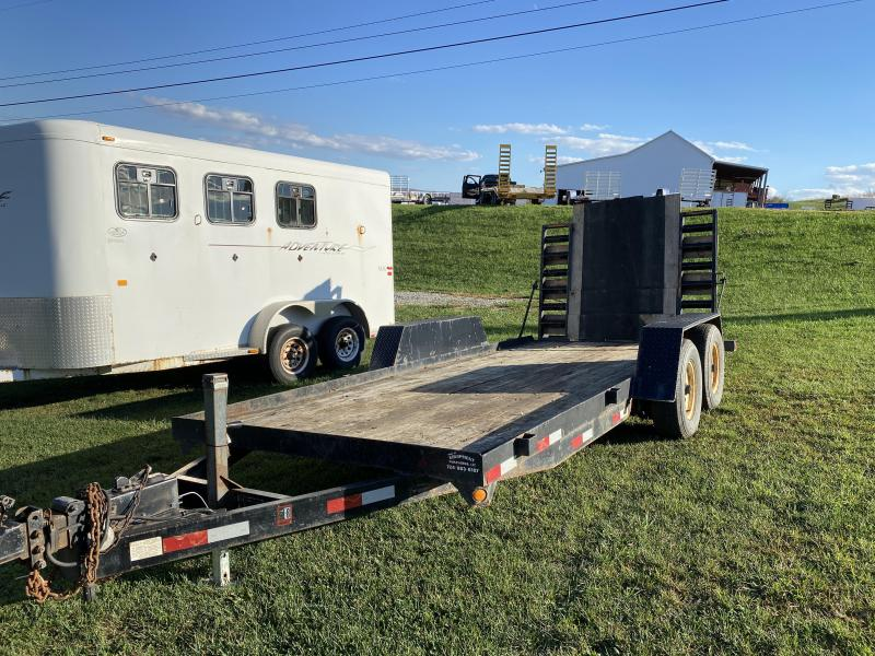 USED 2000 Foster 16' Equipment Trailer w/ Stand up Ramps