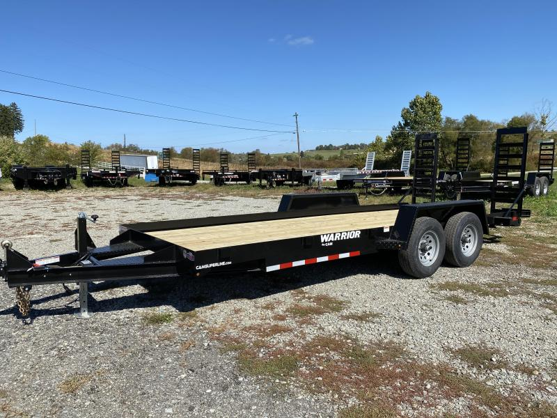 NEW 2021 CAM Superline 18' Warrior Equipment Hauler w/Angle Stand Up Ramps