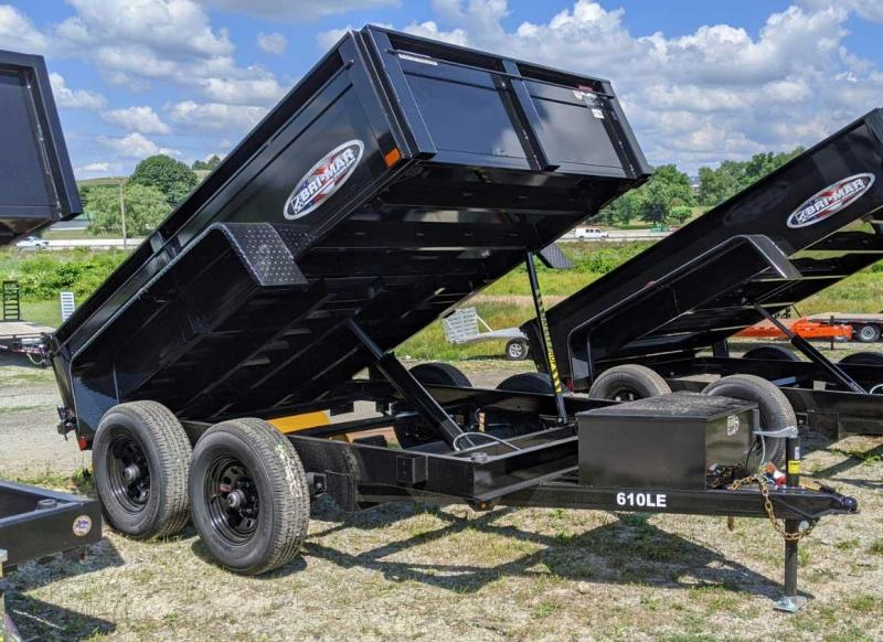 NEW 2021 Bri-Mar 6x10 Lo Pro Equipment Dump Trailer
