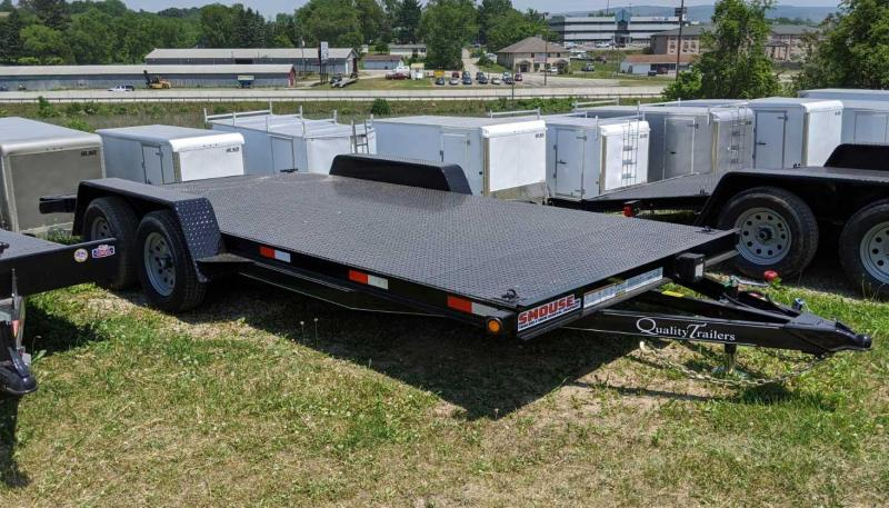 NEW 2020 Quality 16' Diamond Deck Econo Car Hauler w/ 4' Dove Tail & 5' Self Storing Ramps