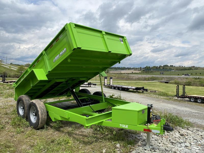 "NEW 2022 Bri-Mar 6'9"" x 12 HD Lo Pro Equipment Dump Trailer w/ Underbody Ramps"