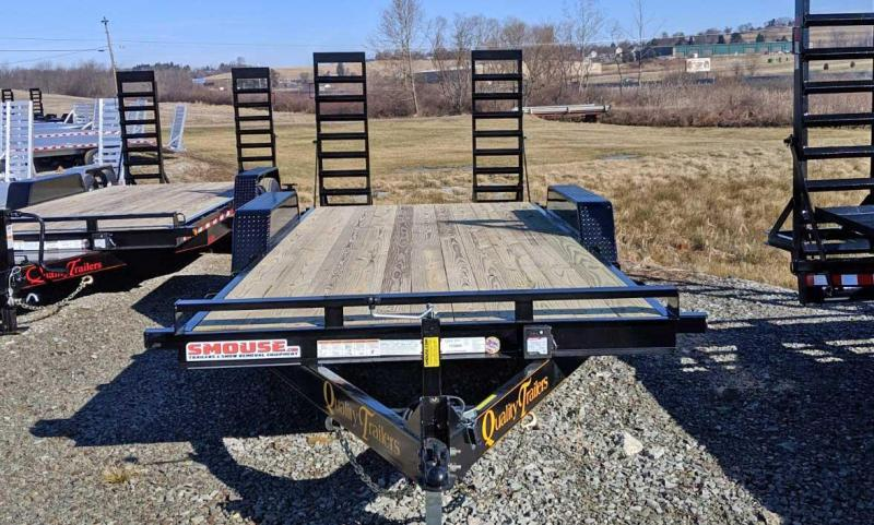 NEW 2021 Quality 20' General Duty Equipment Hauler w/ 2' Dove Tail
