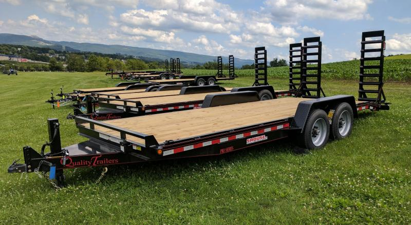 NEW 2020 Quality 20' HD PRO Equipment Hauler w/ 2' Dove Tail (7500# Axles & 17.5 Wheels)
