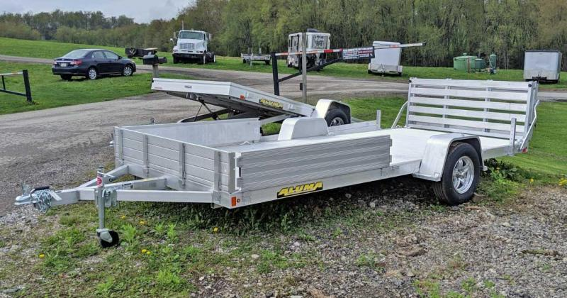 "NEW 2021 Aluma 6'9"" x 15' Utility w/ Side Ramps & Bi-Fold Gate"