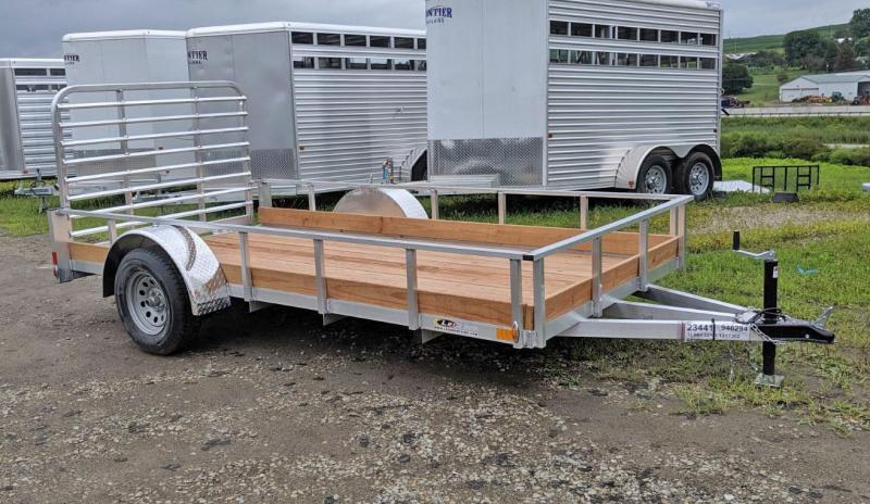 NEW 2022 Legend 6x12 Open Aluminum Low Wood Side Trailer