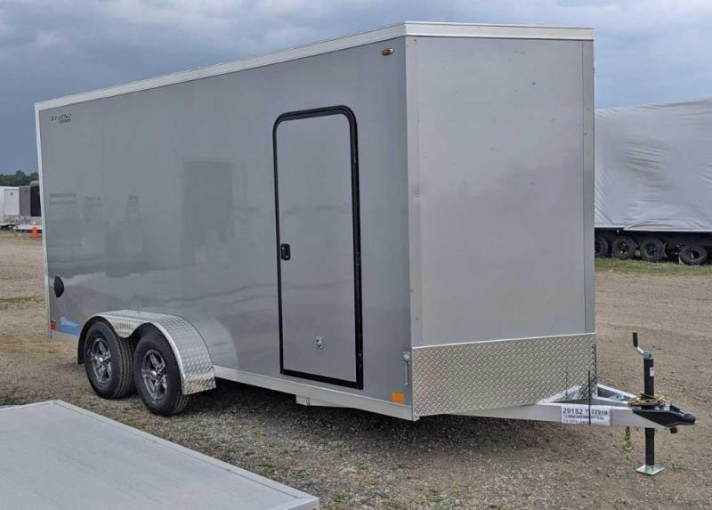 "NEW 2021 Legend 7x16 + 2' V-Nose Thunder Aluminum Cargo Trailer w/ Ramp Door (84"" Inside)"